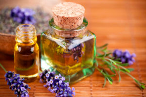 olio di lavanda e rosmarino